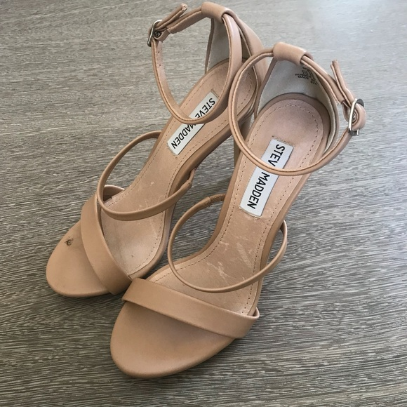 017d566afba Steve Madden Nude Strappy Heel Sandal Size 5 1 2. M 5b3107d5c2e9fe8a2a308adc
